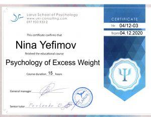 Psychology of Excess Weight Nina-Bastet